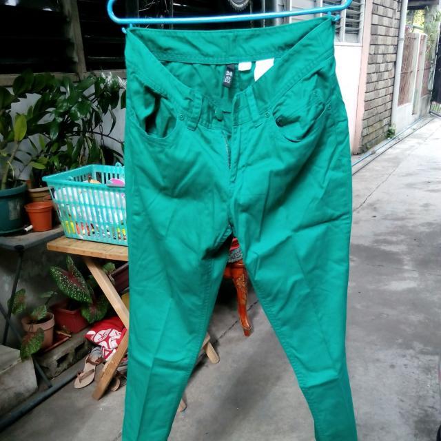 Green H&M pants