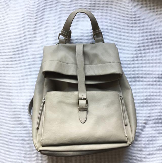 Grey Bardot Backpack Silver Detailing And Front Pocket