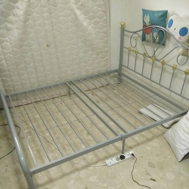 Heart Shaped Metal Bedframe Furniture Beds Mattresses On Carousell