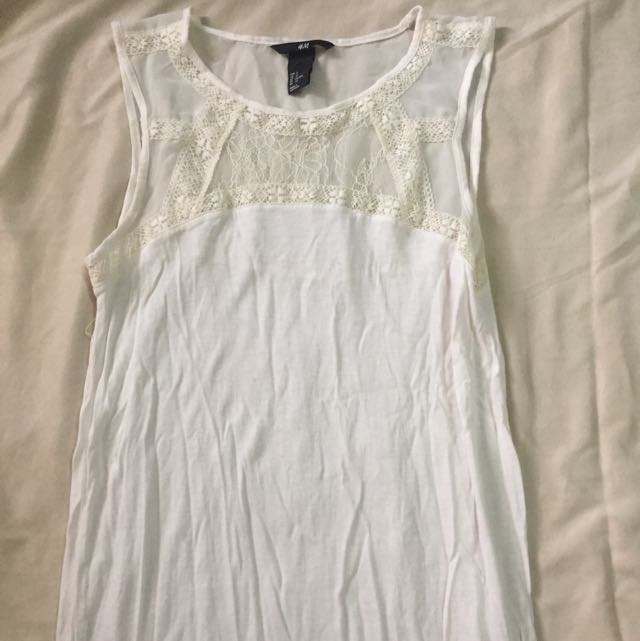 H&M Cream Sleeveless Top