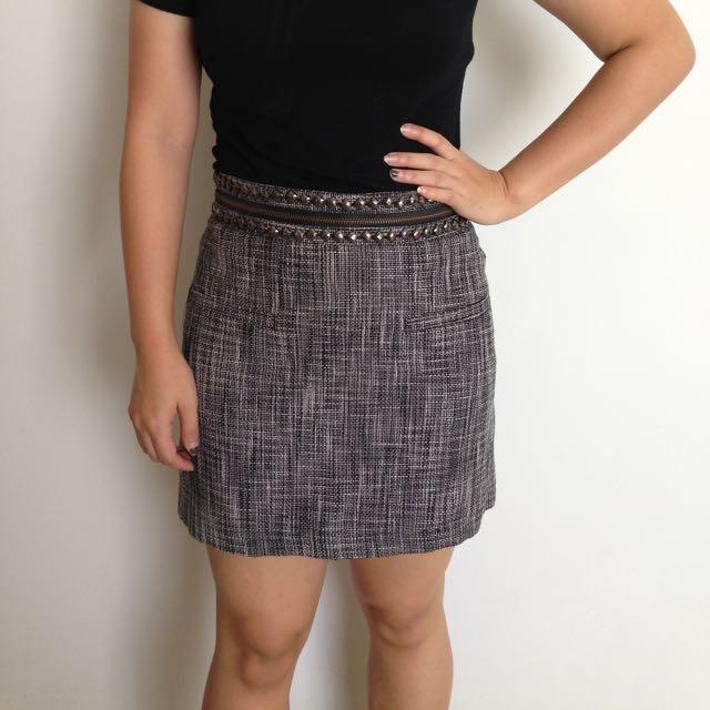 H&M Studded Skirt