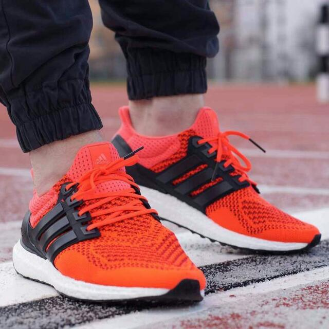 4d72b49744e02 Instock Adidas Ultra Boost Caged Solar Red Size 43