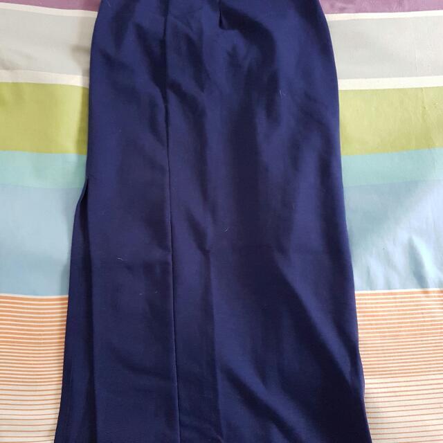 Isis Navy Maxi Skirt
