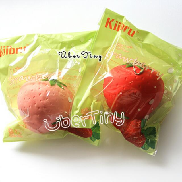 10710d906 Kiibru Super Soft Strawberry Squishy (scented!), Toys & Games ...