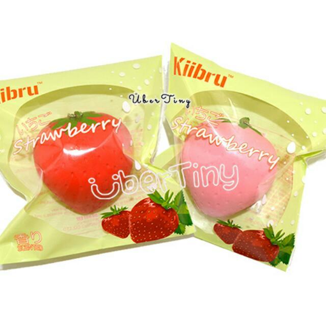 ba15a7dbc Kiibru Super Soft Strawberry Squishy (scented!), Toys & Games, Bricks &  Figurines on Carousell