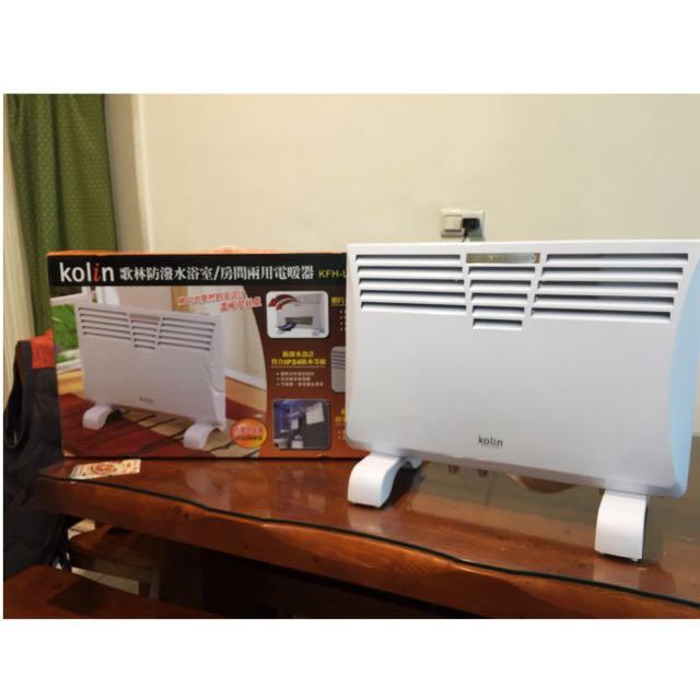 Kolin 歌林【KFH-LN122WP】防潑水浴室房間兩用電暖器