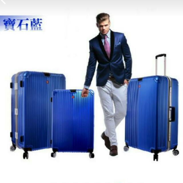 (二手)(二手含運)Leadming [29吋]防刮霧面鋁框 行李箱  寶藍色