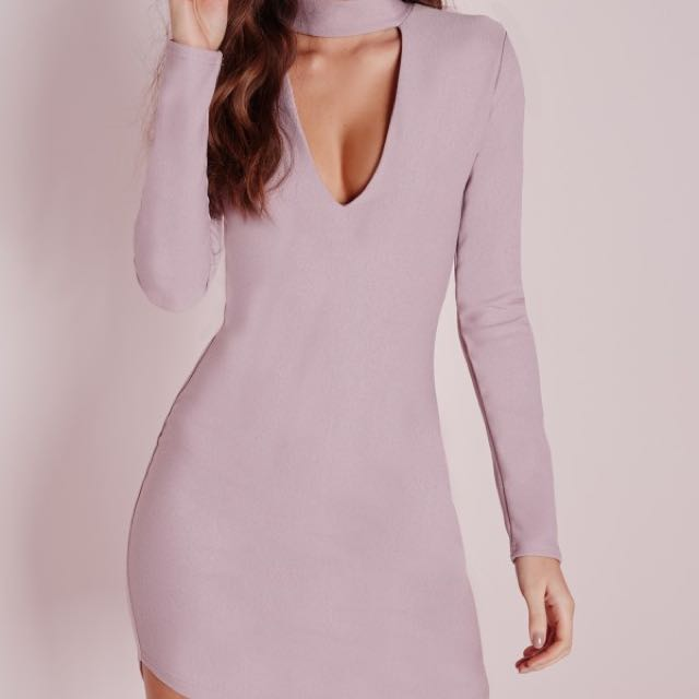 Missguided Curve Body on Dress In Mauve