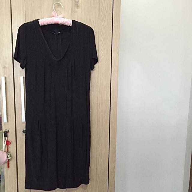 MNG Outlet Casual Black Dress
