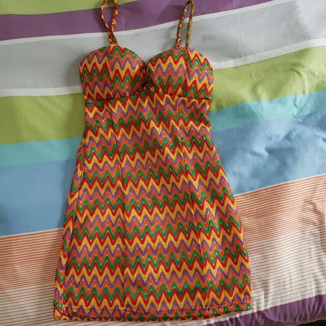 Multi Colored Bodycon Dress