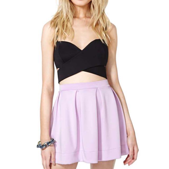 Nastygal Lilac Skater Skirt