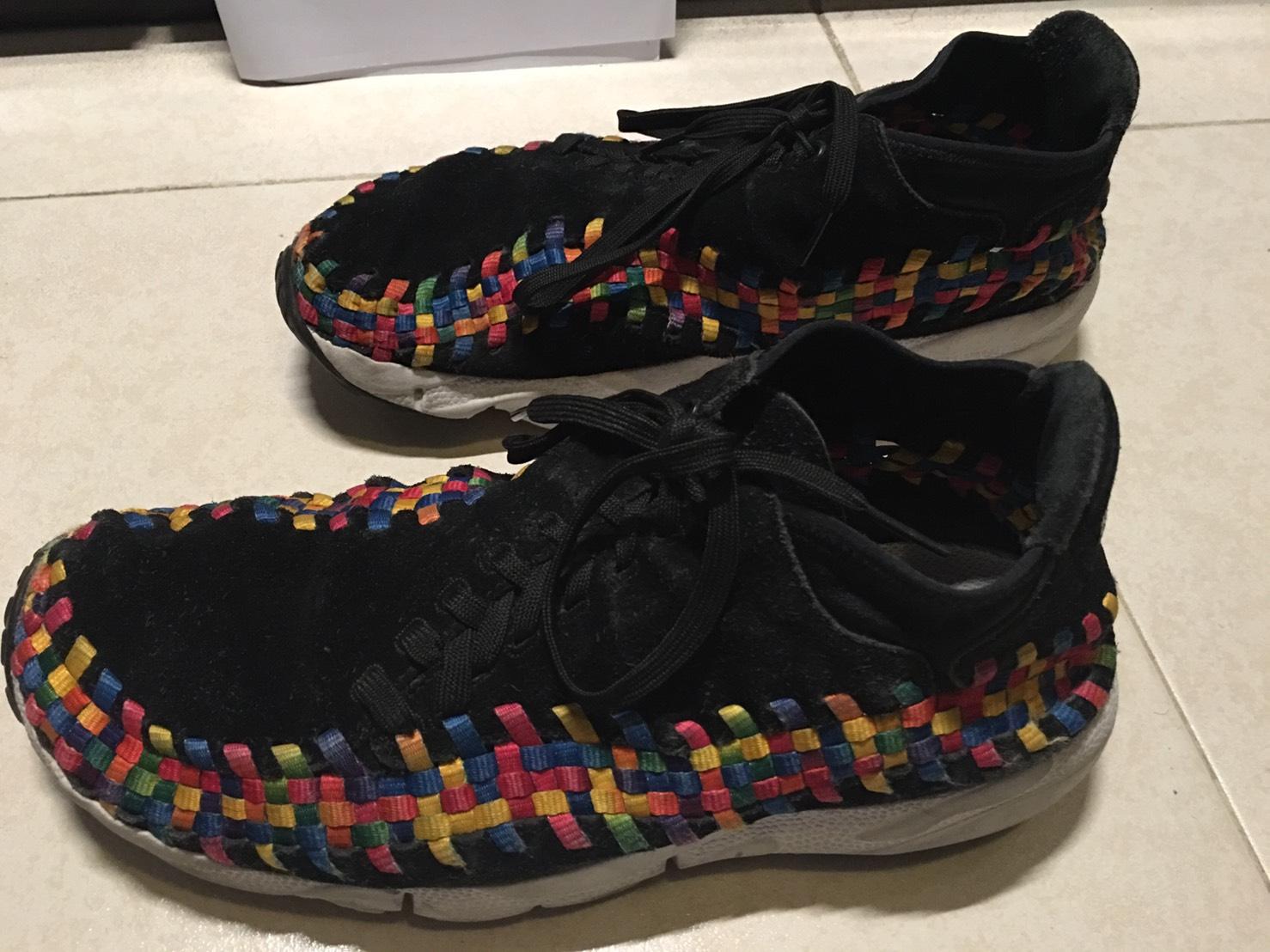 brand new efa8b 534a6 Nike Air Footscape Woven Chukka Premium QS Black Rainbow Siz
