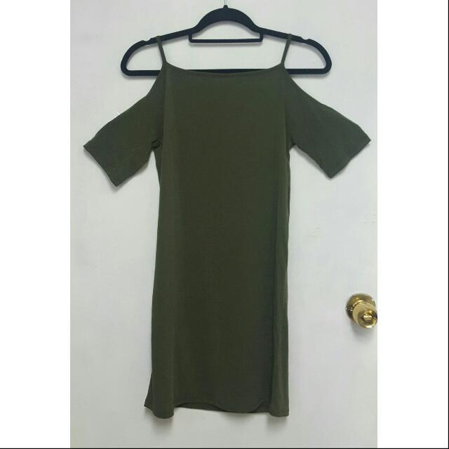 MENDOCINO Open Shoulder Dress