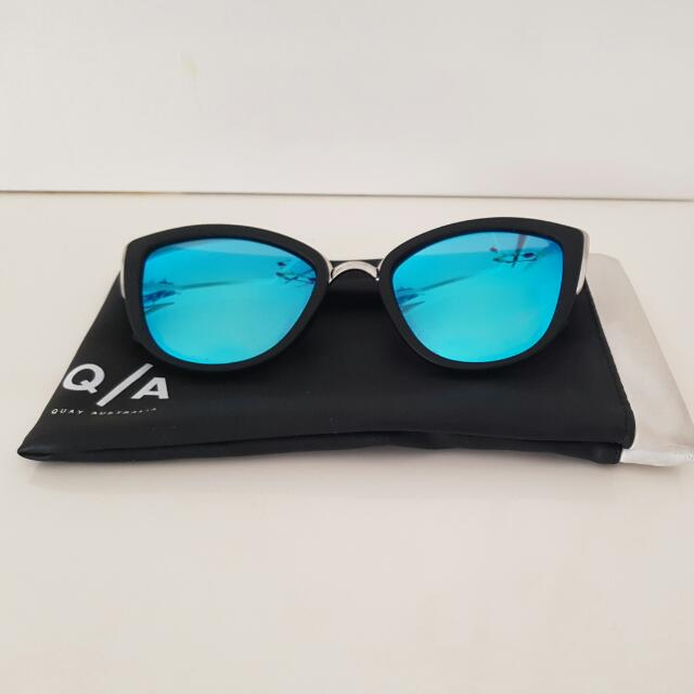 Quay Australia- My Girl Sunglasses- Black & Blue