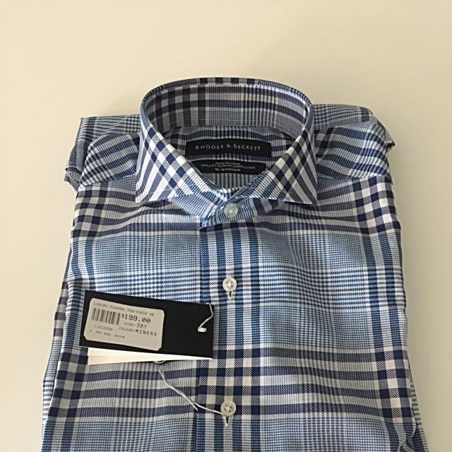 Rhodes & Beckett Blue Check Shirt