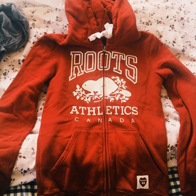 Roots 台灣20週年特別款 紅 連帽外套