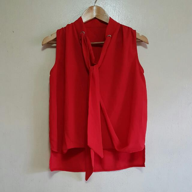 SALE Red Blouse