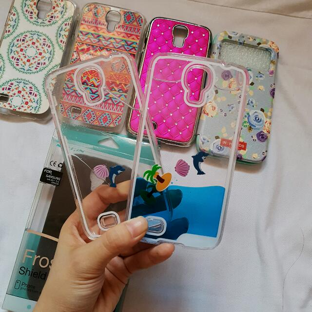 Samsung Galaxy S4 assorted cases + screen protector