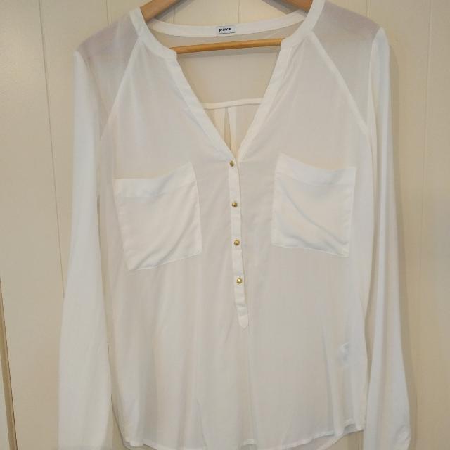 Sheer white blouse