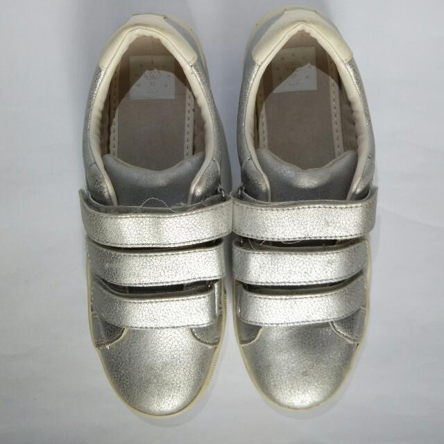 Silver Bershka Sneakers, US Size 37