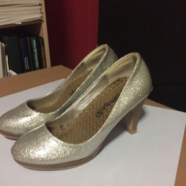 Silver Sparkling Heels