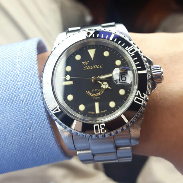 squale 20 atmos y1545 men s fashion watches on carousell