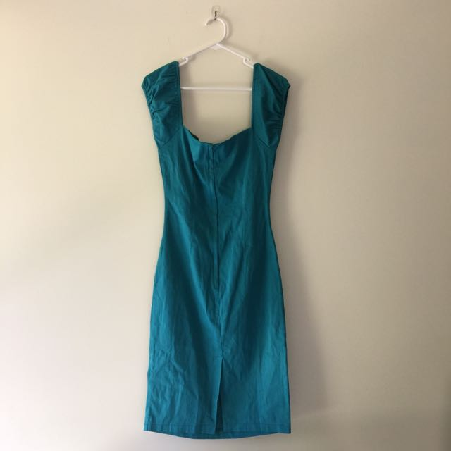 TEAL PENCIL DRESS