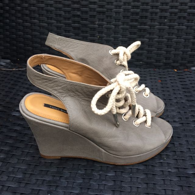 Tony bianco Leather Wedges, Size 8