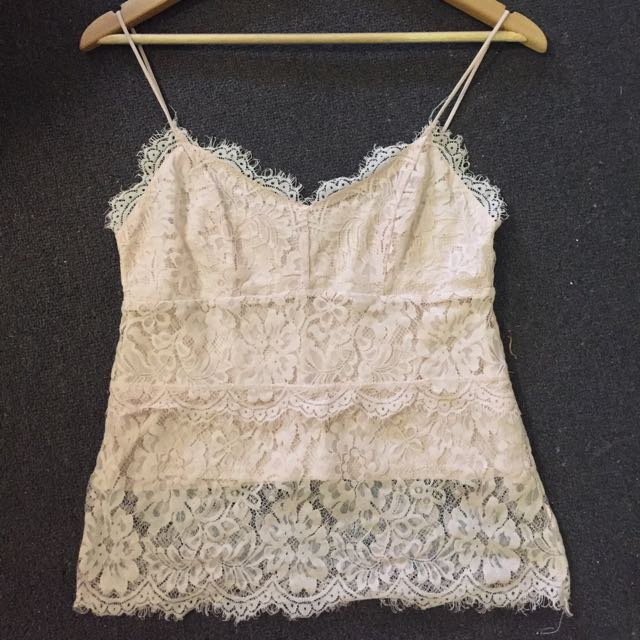 Topshop Pink Lace Cami Size 10