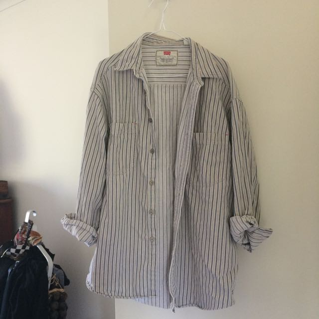 Vintage Levi's striped denim shirt
