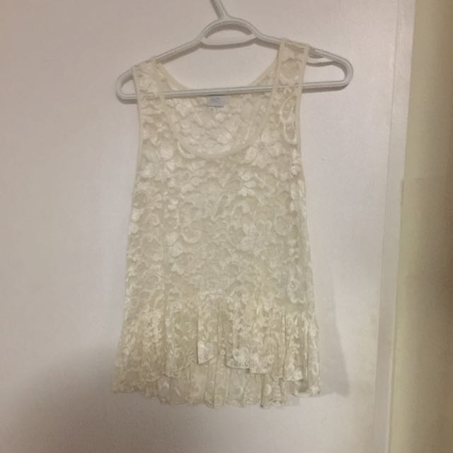 White Lace Top From Suzy Shier