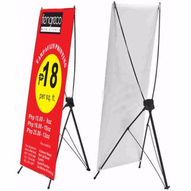 Wire -X Banner Stand