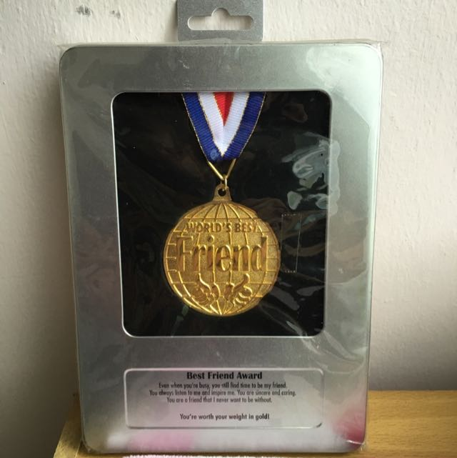 world s best friend medal gift bulletin board looking for on carousell
