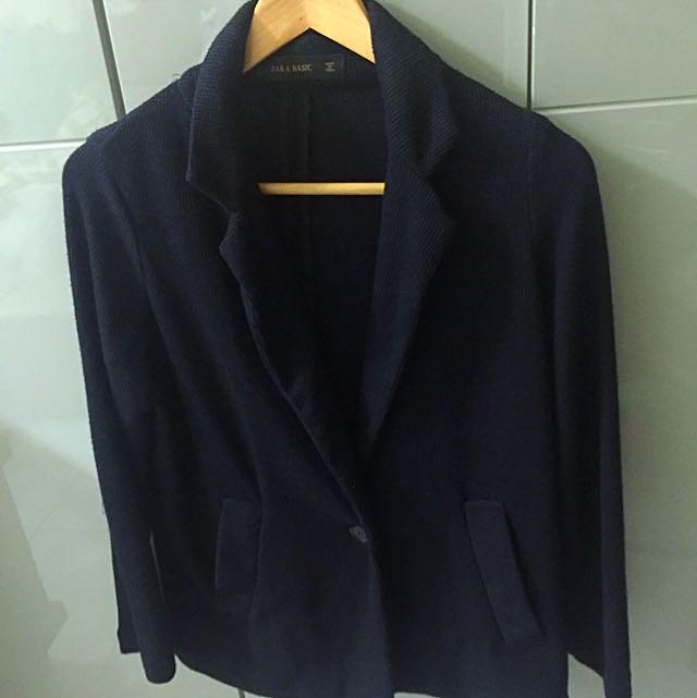 Zara 時尚棉質西裝外套