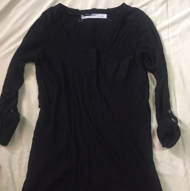Zara Black Basic 3/4 Sleeves