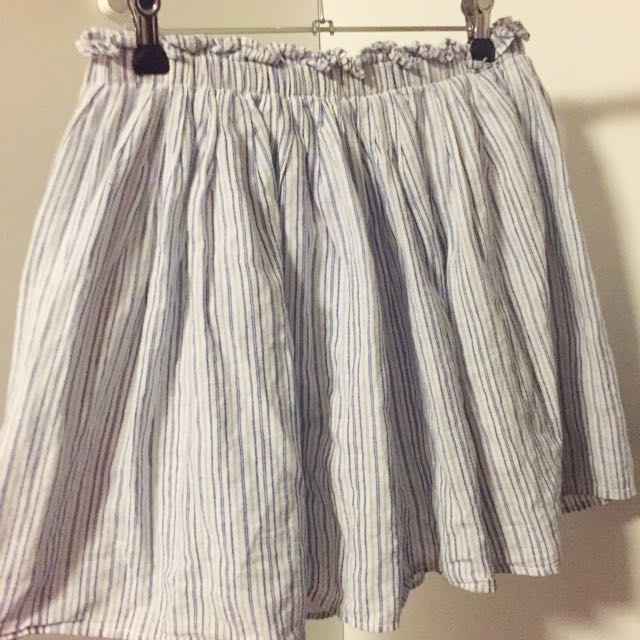 Zara Blue Striped Skirt