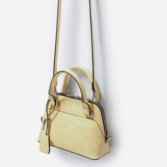 a4bb231cccb9 Zara Croc Mini City Bag Yellow, Women's Fashion, Bags & Wallets on Carousell