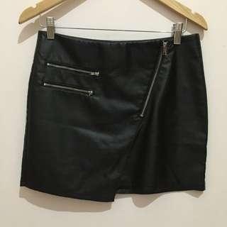 Hnm Latex Mini Skirt Size 38