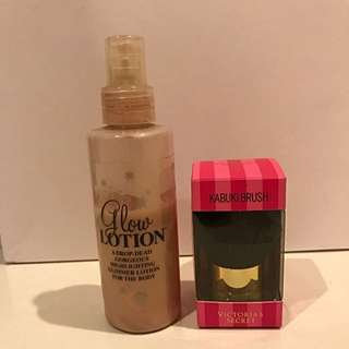 Sephora Glow Lotion & Kabuki Brush VS