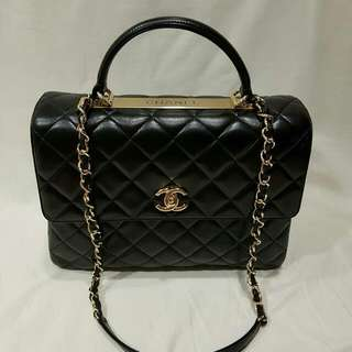 221f380cdfd2 Chanel Trendy CC Large Dual Handle Flapbag, with Top Handle & Chain Strap