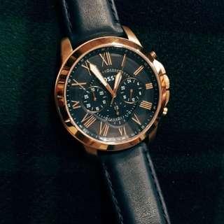 Fossil FS4835 羅馬時標三眼計時腕錶手錶