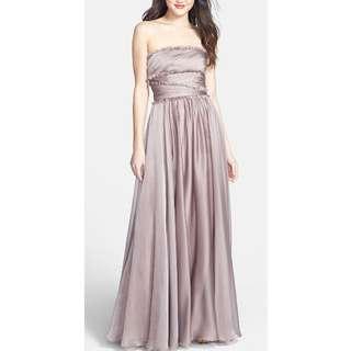 Monique Lhuillier Strapless Chiffon Gown - Size 8 - 65% Off!!