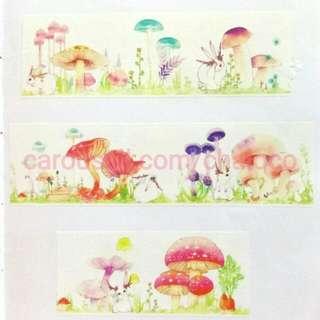 兔語蘑菇 紙膠帶 分裝