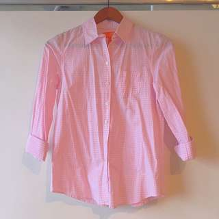 XS Pink Button Up (Fits Like A Small)