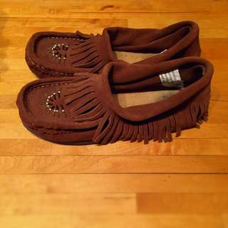 Leather Moccasins 7 1/2