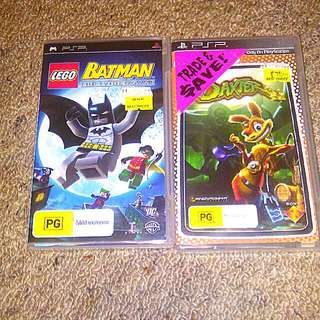 Daxter And Batman Game On PSP