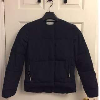 H & M Collarless Puffer Coat