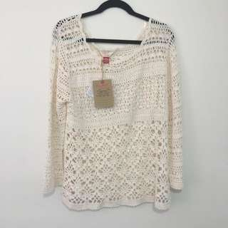 Ladies Woven Knit Jumper Size 20