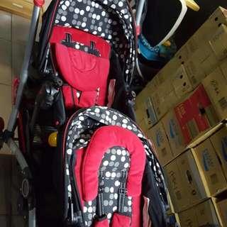 酷炫雙人推車‧Kolcraft Contours Options Tandem Stroller