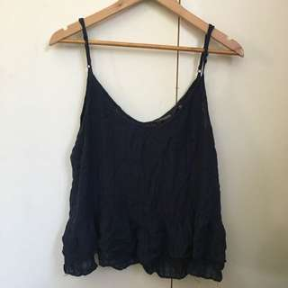 Glassons Navy Frill Singlet